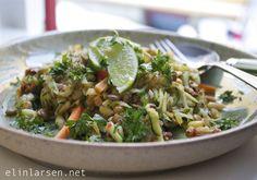 Kjøttfri mandag krydret vegetargryte Vegan Vegetarian, Vegetarian Recipes, Sprouts, Grains, Rice, Vegetables, Cilantro, Veggies, Vegetable Recipes