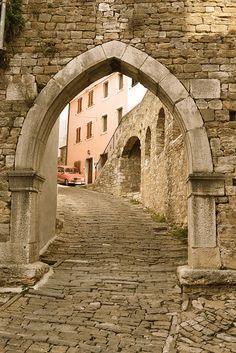 Parish gateway of Motovun - Croatia