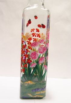 Hand Painted Glass Ladybug and Dragonfly by blueelephant123, $17.00