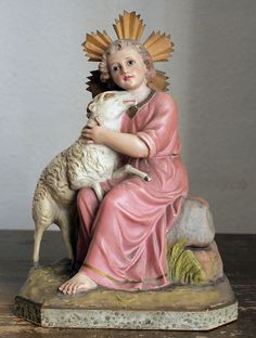 Infant Jesus and The Lamb of God Religious by GliciniaANTIQUE
