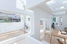 house-n-fujimoto A house being separated by several walls creating gradations in distance, a place inside the house that is fairly near the street; a place that is a bit far from the street, and a place far off the street, in secure privacy""