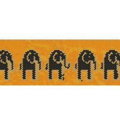 Elephants Peyote Cuff Beaded Bracelet Pattern by RubyDsArtandJewelry on Etsy https://www.etsy.com/listing/170955332/elephants-peyote-cuff-beaded-bracelet
