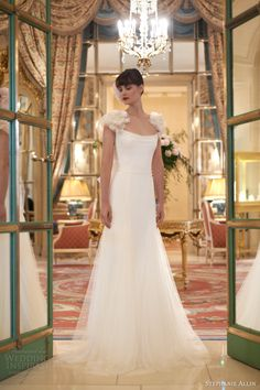 stephanie allin 2014 bridal clemie wedding dress back with a hue of pink for this gorgeously feminine wedding gown