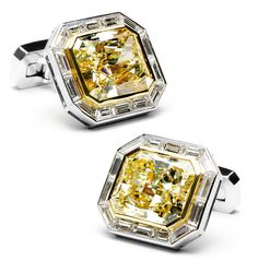 For the man who exudes style and charm and absolutely no common sense. The only thing missing for the vapid man about town are these Jacob & Co. Canary Diamond cuff-links with a price of $4,200,000 these cuff links are the perfect alternative to saving the starving children of several small African countries.
