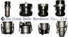 STAINLESS STEEL CAMLOCK COUPLINGS  Standard:  Our camlock coupling are made to standard of A-A-59326 (previously called MIL-C-27487) or DIN 2828.       Casting method: PRECISION CASTING(SILICASOL)     Size: 1/2 to 6   Type: A, B, C, D, DC, DP, E, F