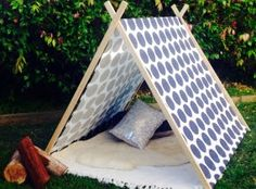 Kids indoor and outdoor A frame tee pee// Lov IT!!!