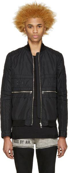 Hood by Air - Black Jockey Bomber Jacket
