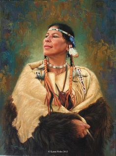 "native american images | ... 12"" Original Oil -Western and Native American Fine Art by Karen Noles"