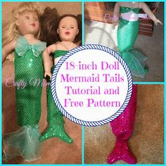 Crafty Moms Share: DIY Mermaid Tail for an 18-Inch Doll with Free Pattern