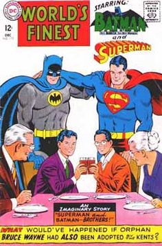 Items similar to World's Finest Comics (Dec DC) Batman and Superman as Brothers! DC Comics on Etsy Old Comic Books, Vintage Comic Books, Comic Book Artists, Vintage Comics, Comic Book Covers, Vintage Magazines, Dc Comics, Archie Comics, Batman Comics