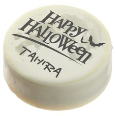 #Halloween Full Moon and Bats Chocolate Dipped Oreo - #halloween #party #cookies #sweets #goodies