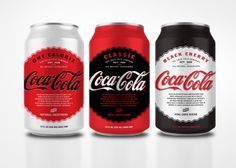 #Coca-Cola Natural red, white, black #packaging by Chad Witzel PD
