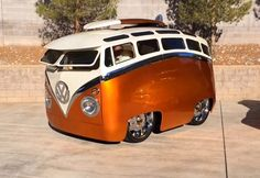 Interesting VW bus by Ron Berry exhibited at theGrand National Roadster Show in Pomona, California. Truly unique, and driveable! More pictures and details over onEbayMotors Share your vote! No, thanks.
