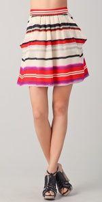 10 Crosby - yummy striped dessert skirt!