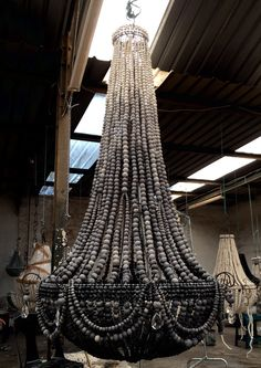 Gorgeous XL elongated design ceramic bead chandelier in our ombré technique. www.hellooow.co.za
