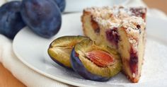 This delicious plum cake is complete with a crumbly golden crust and beautifully tender juicy plums. It's the perfect morning or afternoon treat.