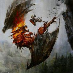 dragon battle fantasy
