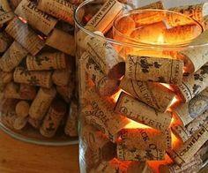 DIY Corks Candle Vessel