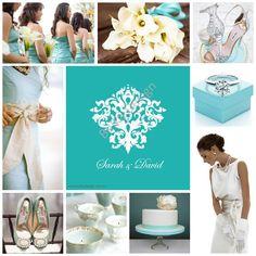 Tiffany blue wedding theme. Wedding invitation by Belka Design - www.belkadesign.com.au