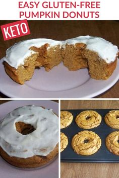 Nut flours work well in baking when substituting out regular flour. These low carb gluten free pumpkin donuts are made with peanut flour. Gluten Free Donuts, Gluten Free Pumpkin, Pumpkin Recipes, Low Carb Breakfast, Breakfast Recipes, Dessert Recipes, Desserts, Donut Recipes, Low Carb Recipes