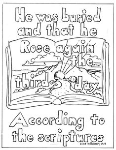 Coloring Pages For Kids By Mr Adron 1 Corinithians Page Christ Rose Again