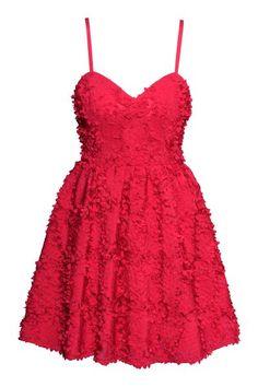 8a10a96cb8 Vestido con vuelo - Rojo - MUJER
