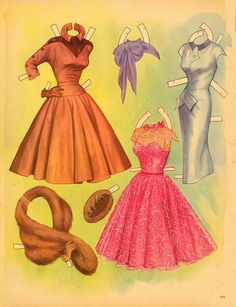 Loretta Young paper doll clothes