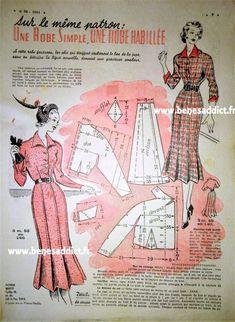GRATUIT! 34 patrons Couture et Tricot Vintage 1950! ⋆ Béné's Addict