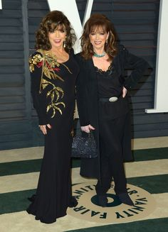 Jackie And Joan Collins At An Oscars After Party 2015