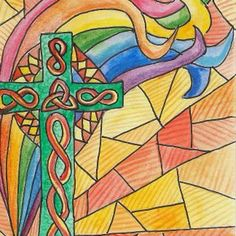 rainbow and cross Cool Patterns, Picasso, Original Artwork, Rainbow, Painting, Ideas, Rain Bow, Rainbows, Painting Art