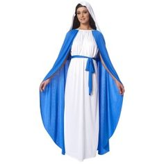 Virgin Mary Adult Womens Party Costume Fancy Dress up Cosplay Christmas for sale online Fancy Dress Costumes Kids, Fancy Dress Up, Girl Costumes, Costumes For Women, Costumes Uk, Costume Craze, Christmas Fancy Dress, Halloween Fancy Dress, Halloween Outfits