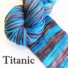 Bis-sock yarn Titanic self-striping hand-dyed yarn
