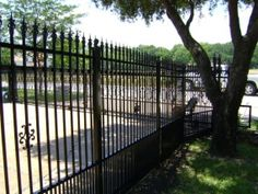 Ornamental Iron Fencing - Made from galvanized steel and powder coated.