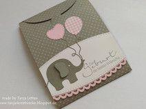 Süße Babykarte zur Geburt