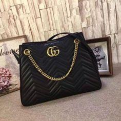 Gucci GG Marmont matelassé shoulder bag black 453569