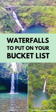 Some of the BEST waterfalls in Hawaii can be found on the Road to Hana! Maui HAWAII vacation ideas Us Beach Vacations, Hawaii Vacation, Maui Hawaii, Vacation Ideas, Dream Vacations, Vacation Destinations, Vacation Places In Usa, Hawaii Hikes, Yellowstone Vacation