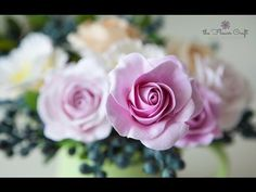 How to make a rose clay flower (for beginners) - YouTube