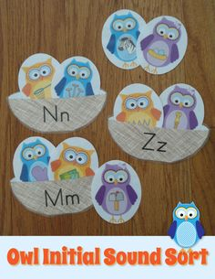 Work on beginning sounds with this interactive owl initial sound sort activity.