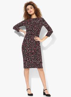 81e68c225181 Buy DOROTHY PERKINS Lily & Franc Multicoloured Spot Manipulated Dress Online  - 3012361 - Jabong