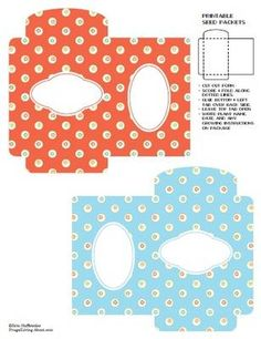 Printable seed packets 5 pages, includes a blank one