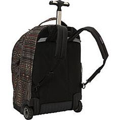 The JanSport Driver 8 is a full-size wheeled backpack, complete with a padded laptop sleeve. Perfect for light overnight travel or wheeling across campus.