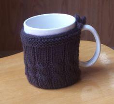 Knit & Crochet Patterns: Cabled Mug Cozy