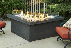 Outdoor Fire Pit - Outdoor GreatRoom The Pointe Fire Pit Table With L-Shaped Design