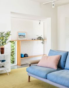 The Design Files - A Photographer + Stylist's Vibrant Family Home - Photo, Eve Wilson for The Design Files. Turbulence Deco, The Design Files, Relax, Australian Homes, Storage Design, Home Additions, Living Room Sofa, Dining Room, Interior Design Inspiration