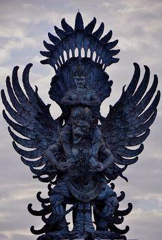 Lord Vishnu sitting atop Garuda Bali, Indonesia