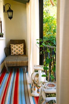 Great idea for small balcony areas with little to no privacy.  #outdoor #curtain