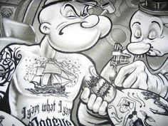 tattoo: Tattoo arte - Tatuagem do Marinheiro Popeye