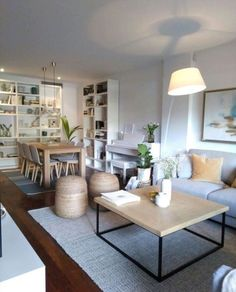 Minimalist Living Room Ideas - Find your favored Minimalist living room photos right here. Check out images of inspiring Minimalist living-room design concepts to create your best home. Living Room Interior, Home Living Room, Apartment Living, Home Interior Design, Living Room Designs, Living Room Decor, Dining Room, Dining Chairs, House Design