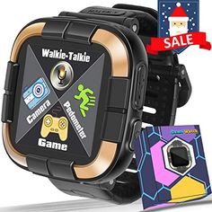GBD Kids Game Smart Watch Fitness Tracker [Walkie Talkie Pro ] for Boys Girls Holiday Birthday Gifts Digital Watch with Touch Screen Pedometer Camera Electronic Learning Toys Best Kids Watches, Cool Watches, Watches For Men, Mvmt Watches, Popular Watches, Sport Watches, Modern Watches, Stylish Watches, Elegant Watches