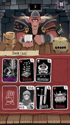 Card Crawl has a very simplistic game mechanic I want to implement